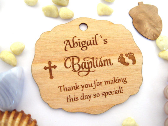 Personalized Engraved Wood Hangs Wedding Table Decoration Favors Customized Candy Tags Christmas decor footprint hanging tags