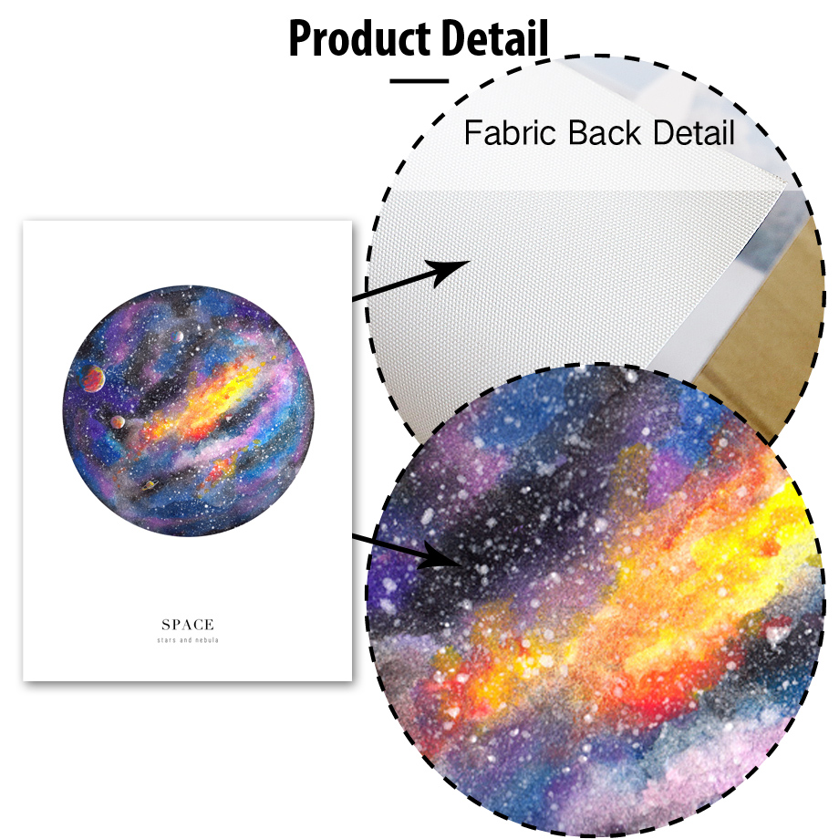 AFFLATUS Space Marble Landscape Painting Nordic Posters And Prints Wall Art Canvas Painting Wall Pictures For Living Room Decor in Painting Calligraphy from Home Garden