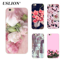 For iPhone 6 6s Plus Phone Case Elegant Beautiful Flowers Painting Soft TPU Cases Back Cover Coque For iPhone 6 Plus