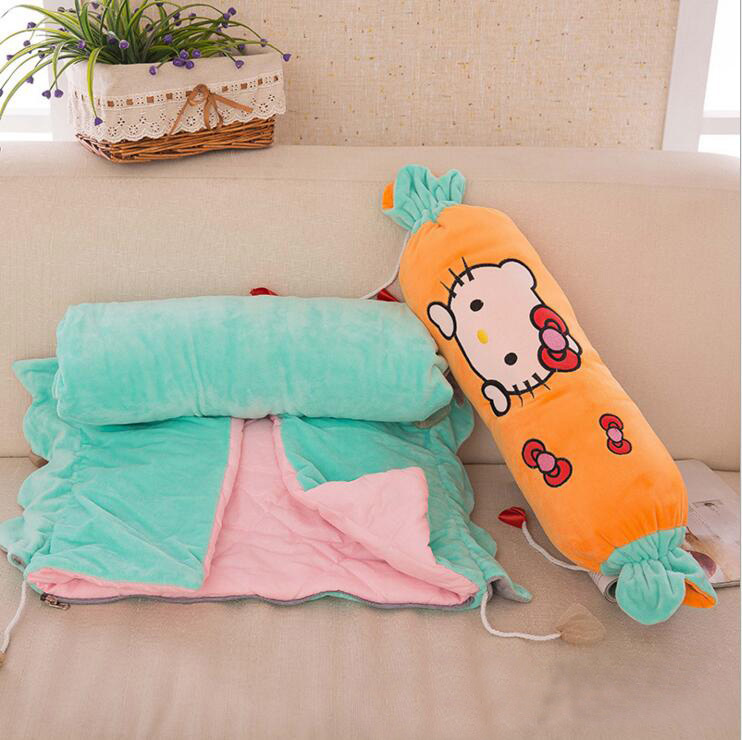 New Cartoon Candy Blanket For Baby Plaid Sofa Office Car Travel Sleeping Blankets With Throw Pillows Hallo Kitty Free Sheeping 2016 hot children s baby cartoon baby blanket kitty baby blankets newborn baby boy blanket 1048