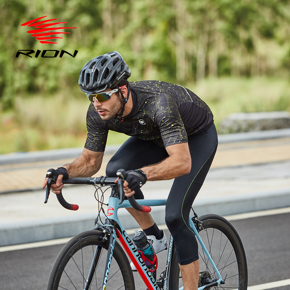 RION Cycling Sets Men Outdoor Sports Clothing Pants Suit Mountain Bike MTB Downhill Bicycle Jersey 5R Gel Padded 3/4 Long Shorts цена 2017