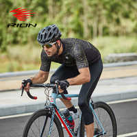 RION Cycling Sets Men Outdoor Sports Clothing Pants Suit Mountain Bike MTB Downhill Bicycle Jersey 5R Gel Padded 3/4 Long Shorts