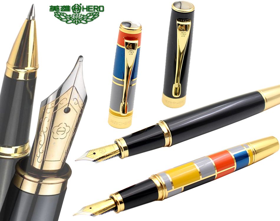 1 piece Fountain pen  or RollerBall pen 2 colors to choose HERO 767 standard pens for office and school  Top-rated Free Shipping fountain pen curved nib or straight nib to choose hero 6055 office and school calligraphy art pens free shipping