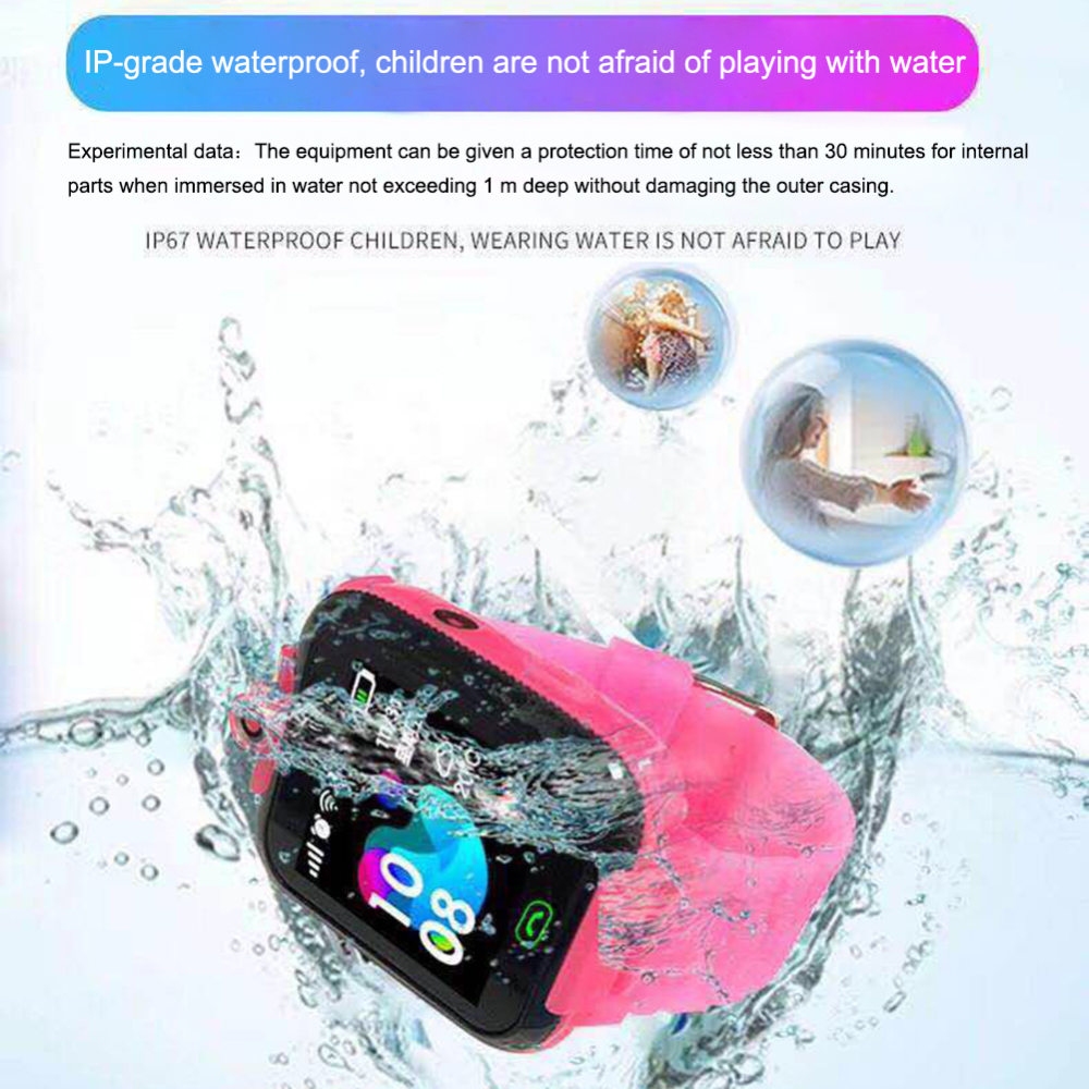 Permalink to Children's watch Anti-lost GPS Kid Smart Watch Call Camera Waterproof Safe Tracker Wrist Watch GPS baby Watch for IOS & Android