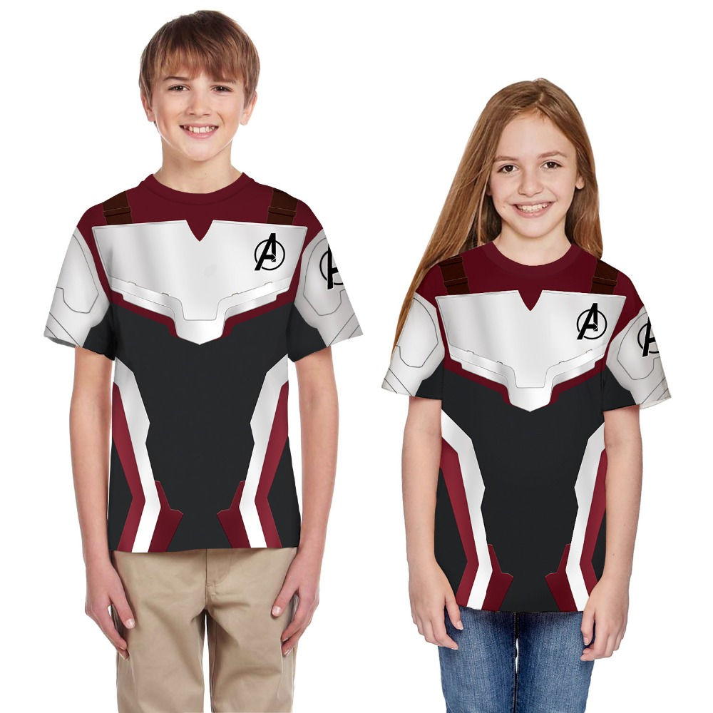 Top T-Shirt Avengers Cosplay Girls Realm 4-Quantum Kids Summer The 3D for Boys Costume