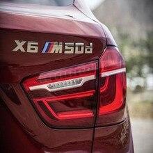 F15 3D Car Styling PARA BMW X5 SUV Maletero X5M50d X6m50d Tapa Divisa Del Emblema Del Logotipo Pegatinas
