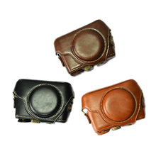 PU Leather Camera Case For Sony RX100 RX100 II III RX100 IV V RX100 VI Camera Bag Cover With Strap все цены