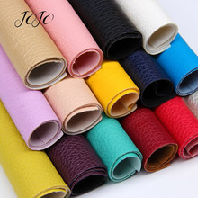 JOJO BOWS 22*30cm 1pc Faux Synthetic Leather Fabric For Craft Solid Soft Litchi Sheet For DIY Hair Bow Home Decor Apparel Sewing(China)