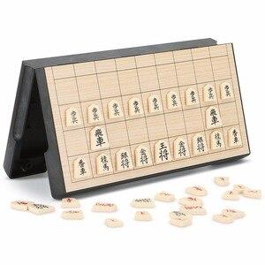 طوي المغناطيسي للطي Shogi مجموعة محاصر المحمولة اليابانية الشطرنج لعبة شو غي ممارسة التفكير المنطقي 25*25*2 cm