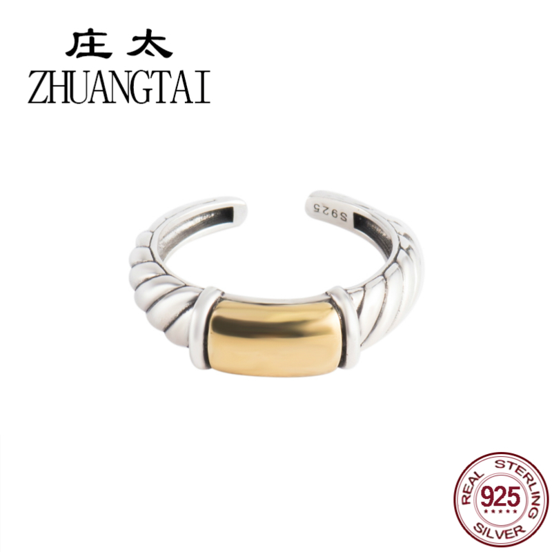 ZHUANGTAI Jewelry Real 925 Sterling Silver Vintage Ring Gothic Finger Rings For Women Hand Anillos Mujer Engagement Favourite