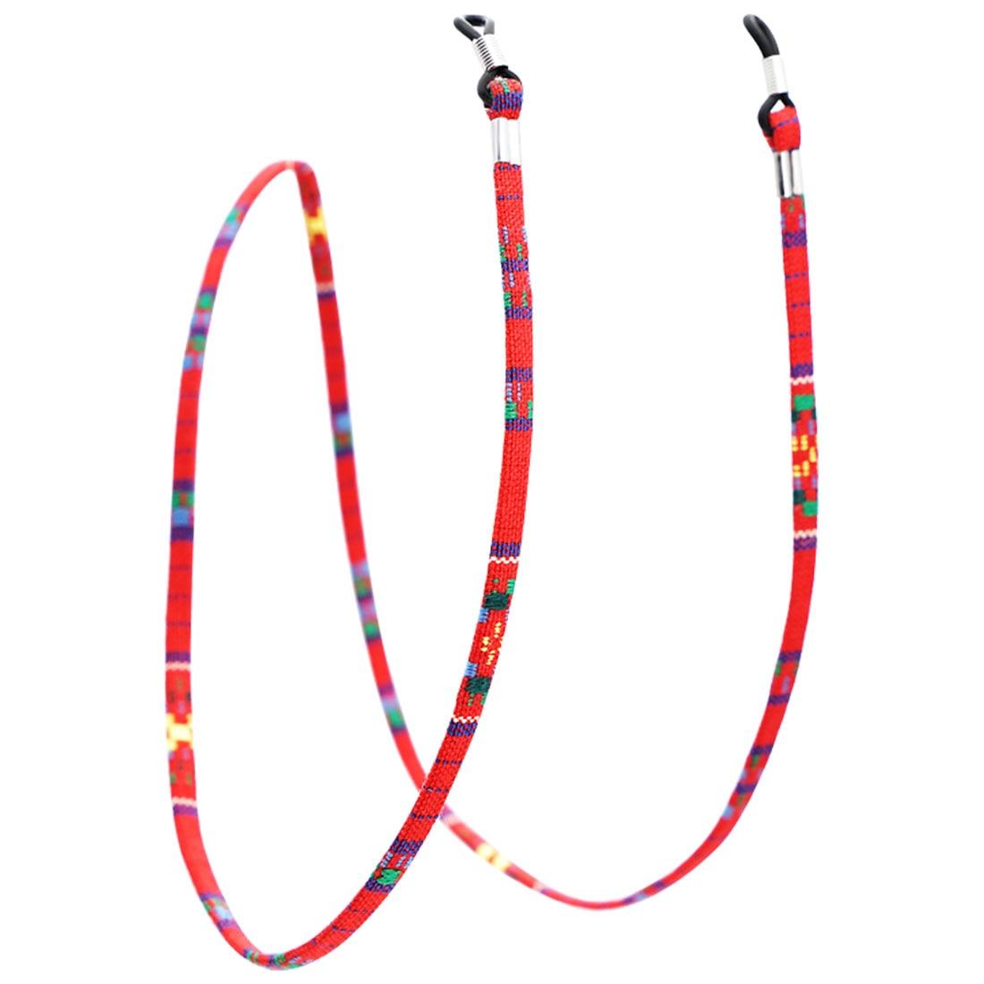 1 шт., 6 цветов, кожаный шнурок для очков, регулируемый конец, держатель для очков, красочные кожаные очки, шейный ремешок, веревка, ремешок - Цвет: 2