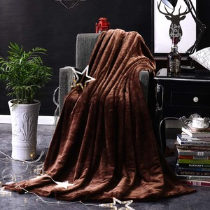 Image 3 - CAMMITEVER Home Textil Reine Farbe Weiß Kaffee Grün Feste Luft/Sofa/Bettwäsche Wirft Flanell Decke Alle Jahreszeiten Weichen bettlaken