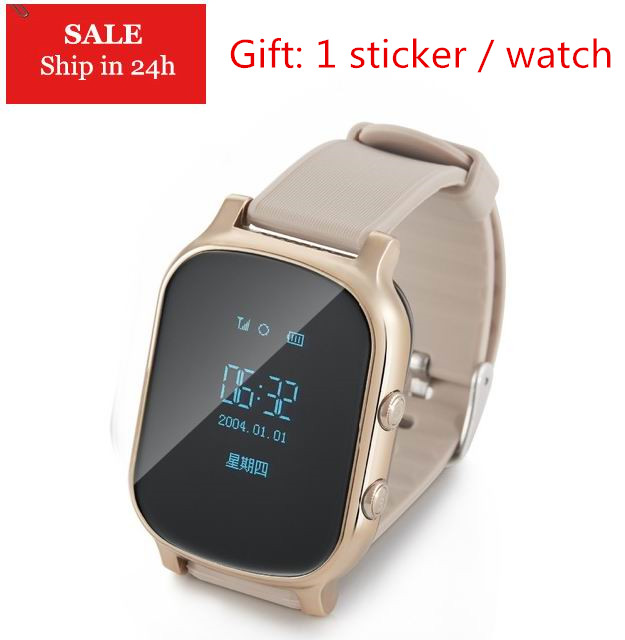 GPS Tracker Smart Watch T58 for Kids Children Gift GPS Bracelet Google Map SOS Button Tracker GSM GPS Locator Clock Smart Watch