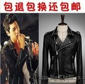 Free shipping !!! Men's fashion tide brand Non-mainstream punk rivet leather clothing the trend of  leather jacket outerwear
