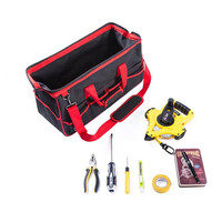 Portable Multifunctional Toolkit Electrician Gardening Mechanic Fixer Install Packages Oxford Toolkit Shoulder Bag Handbag