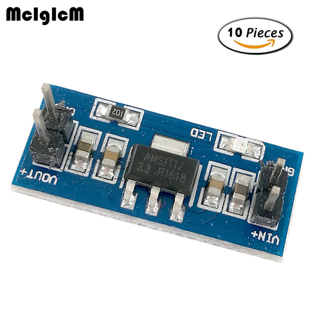 MCIGICM 10pcs High Quality 5V to 3.3V For DC-DC Step-Down Power Supply Buck Module AMS1117 LDO 800MA