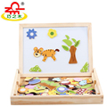 Wooden Magnetic Puzzle Early Learning Educational Toys Multifunctional Jigsaw Drawing Board for Baby
