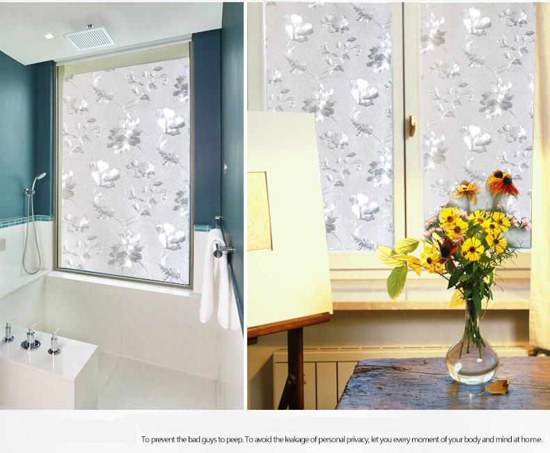 Frosted UV static cling 3D transparent sunscreen bathroom window film 40cmx300cm 40cm x 200cm. Popular Window Film Bathroom Buy Cheap Window Film Bathroom lots