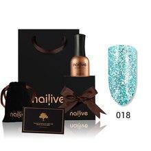 Gelike 15ML Nail Gel Platinum Bling Glitter UV LED Polish Set Soak Off Varnish