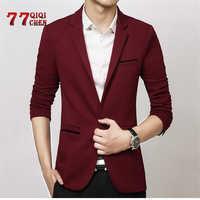 Spring Autumn Luxury Men Blazer 2019 Casual Business Cotton Slim Fit Suit Jacket Male Plus Size M-5XL Blazer Masculino Men Coat