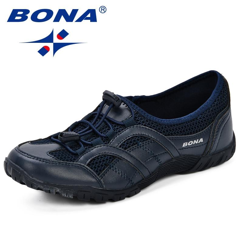 BONA nouveau en plein air adultes formateurs chaussures de course femme maille chaussures Sport athlétique respirant femme baskets 2019 printemps automne - 3