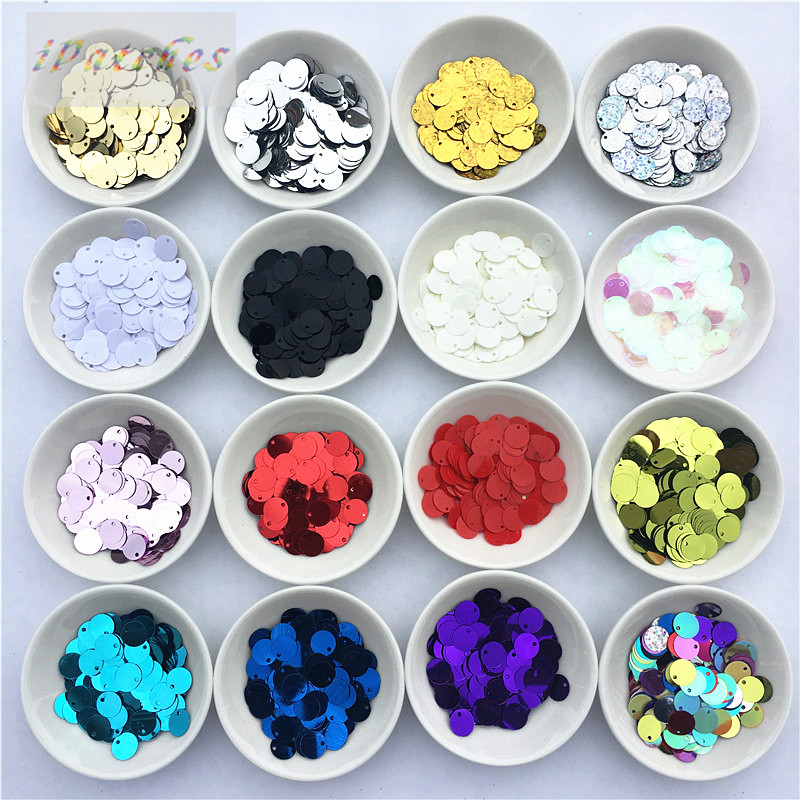 480pcs 1cm Round Sequins Side Drilling PVC Bulk Sequins DIY Clothing Accessories Stage Costume Jewelry Making Sequin For Crafts ...