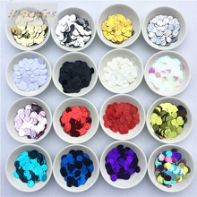 Clothing-Accessories Crafts Making Bulk Sequins Side-Drilling DIY Round PVC for 240pcs