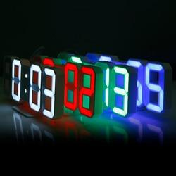 Original 3D LED Table Clock Modern Wall Clock Digital Watches 12/24 Hours Display Clock mechanism Alarm Snooze Desk Alarm Clock