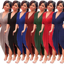 M-2XL women v neck half sleeve dress night evening party long dress club dress slim tight midi dress plus size платье для тенниса asics w club dress цвет розовый синий 141173 0688 размер m 46 48