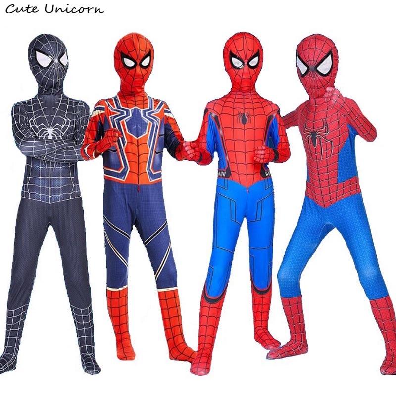 Superhero avengers Spiderman Costume for kids adult Spider Man zentai suit children boys Spider-man halloween Carnival bodysuit