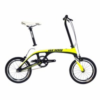 BEIOU Sports Downtown Carbon 1 Speed Complete Bicycle Comfort Bike 14 Inch Wheels Ultra Superlight Urban Bike 15.2lb CB006