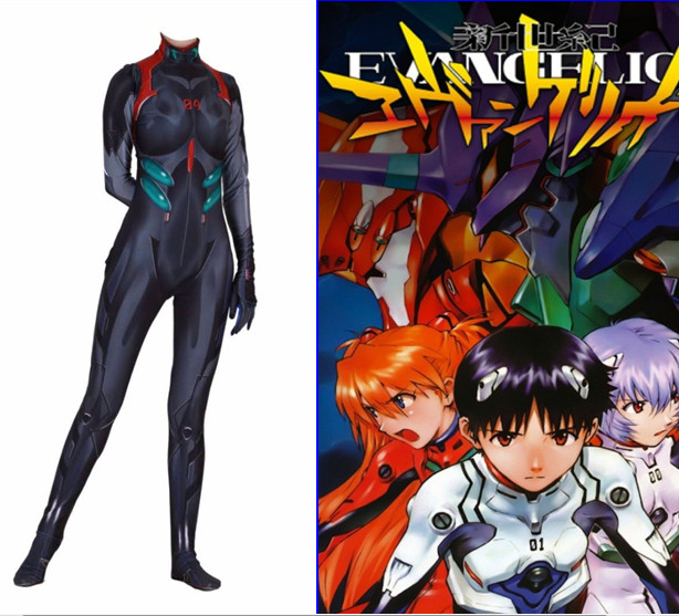 Anime NEON GENESIS EVANGELION EVA Nagisa Kaworu Cosplay Custome Jumpsuits Tight Suits Bodysuits