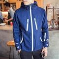 Novo Design Multi-Bolso Estilo Europeu e Americano Marca de Moda Homens Jaqueta Casual Mens Jaquetas e Casacos Com Zíper de Algodão Outwear