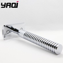 Yaqi Chrome Color Brass Heavy Handle Wet Shaving Razor цена