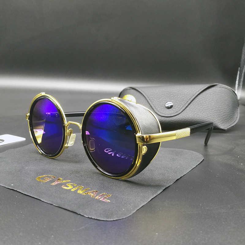 9738846b0e GY fashion women steampunk sunglasses brand designer mens round sun glasses  for male sunglasses vintage sunglass
