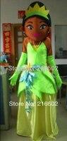 2017 Wysokiej jakości maskotka kostiumy Dla Dorosłych Rozmiar żaba żaba księżniczka księżniczka maskotki kostiumy darmowa wysyłka