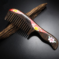 2019 high quality chacate preto handmade comb Wood Hair Combs makeup Head Massager Antistatic Wooden brush