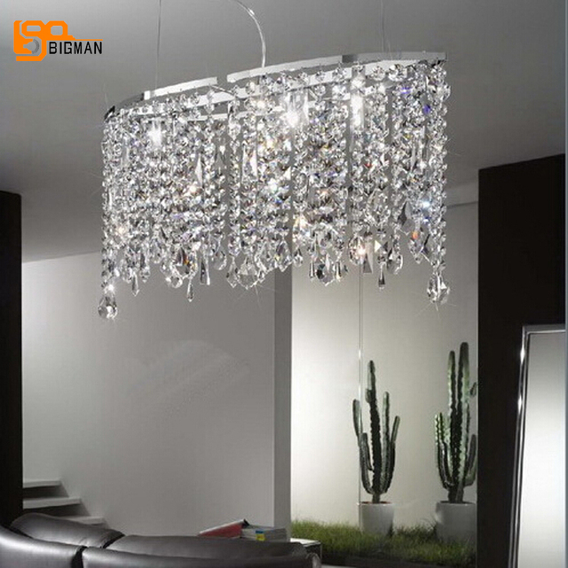 High Quality Crystal Pendant Lights Modern Lamps L60 W30 H80cm Dinning Light Fixtures