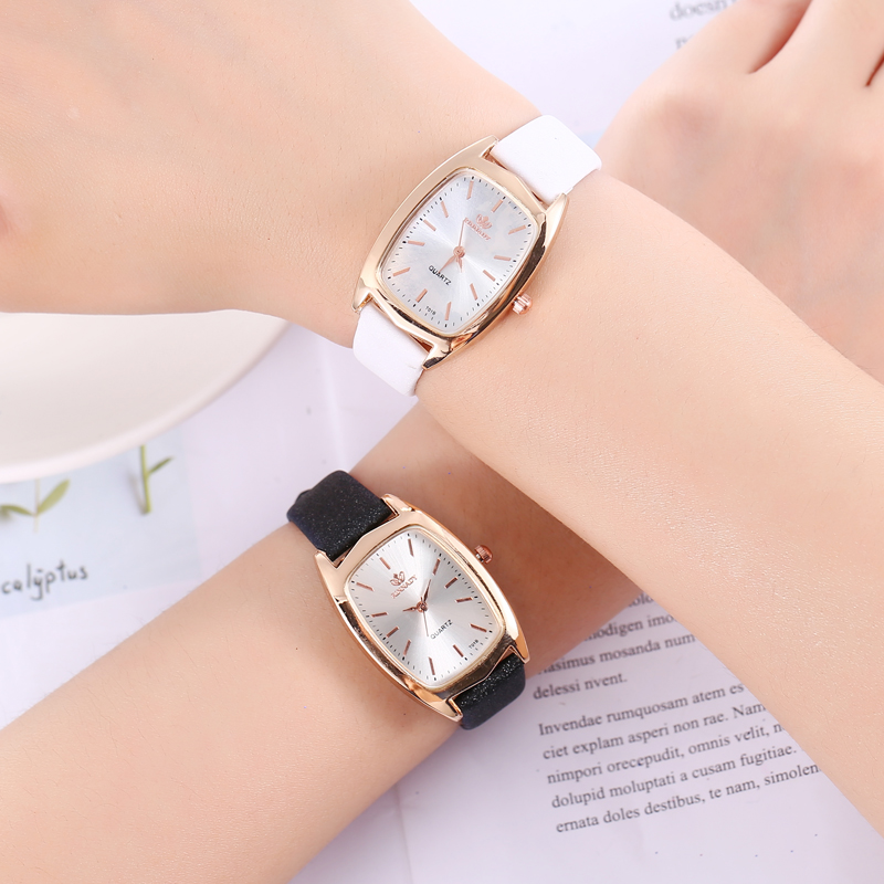 Vintage Rectangle Watch Women Watches Ladies Glitter Leather Quartz Wristwatches Female Bracelet Watch Clock Dropshipping 2019