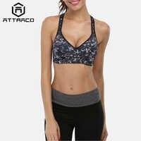 Attraco Frauen Sport Bh Mid Auswirkungen Unterstützung Backcross Yoga Bh Lauf Training Bh Unterwäsche Fitness Sport Top