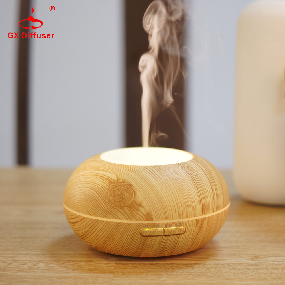 GX.Diffuser Essential Oil Diffuser Wood Grain 300ml Ultralyd Luft Luftfugtighed Mist Maker Humidificador Aroma Diffuseur 300ml