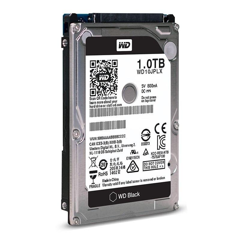 Disque dur interne WD 1 to noir 2.5 ''HDD HD SATA III disque dur interne 1000 go pour ordinateur portable 9.5mm 7200 tr/min WD10JPLX
