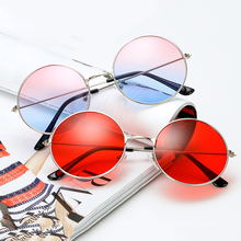 MLLSE Vintage Round Sunglasses Women Solid and Ocean Color L