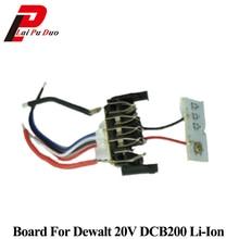 For Dewalt 18V 20V 1.5Ah DCB200 Li ion Battery PCB Circuit Board Charging Protection DCB201 DCB203 DCB204