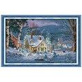 A Noite de Neve de Natal Contado Cross Stitch Define cenário do Ponto da Cruz 11CT 14CT Cross Stitch Bordados Kits Needlework