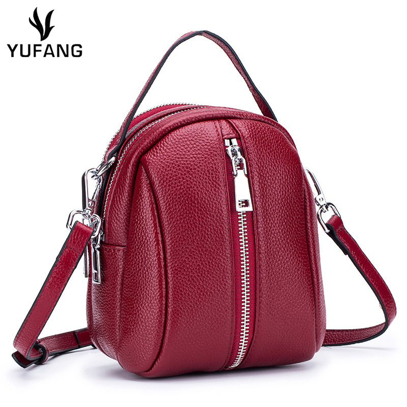 YUFANG Phone Bag For Womens Genuine Leather Female Messenger Bag Daily  Zipper Party Package Small Sling e30540263d760