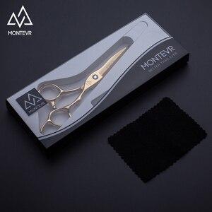 Image 2 - MONTEVR professional size 5.75inch gold japan hair scissors hairdressing scissors barber scissors