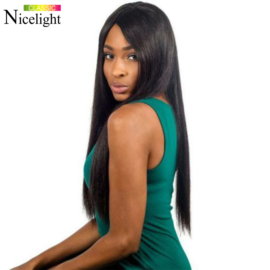 Long Straight Human Hair Wigs 4X4 Closure Wigs Nicelight Malaysian Remy Lace Wig 10-26inch Closure Hair Wigs With Hairline