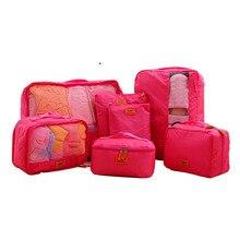 3SETS / LOT Men Women Travel Bag Male Female Waterproof Packing Cubes Luggage Organizer Cube Set