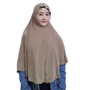 Image 5 - Nieuwe Moslim Vrouwen Amira Gebed Hoed Hijab Sjaal Headwrap Overhead Cover Khimar Islamitische Hoofddoek Volledige Cover Hijab Arabische Sjaal Nieuwe